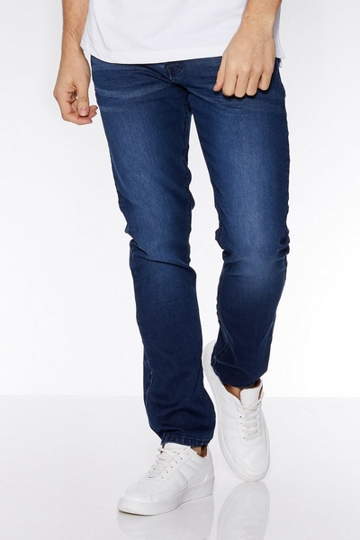 Blue Stretch Denim Jeans