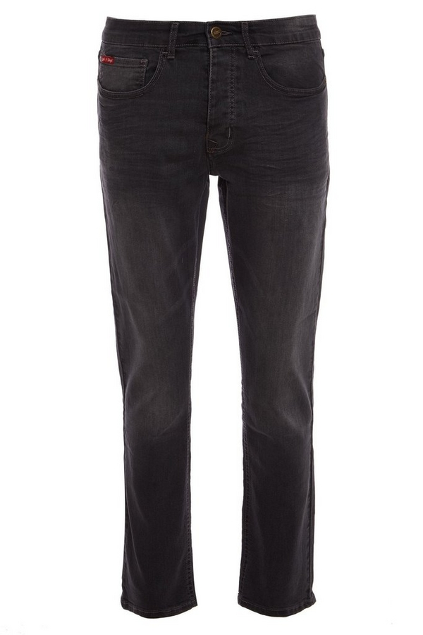 Grey Slim Fit Stretch Denim