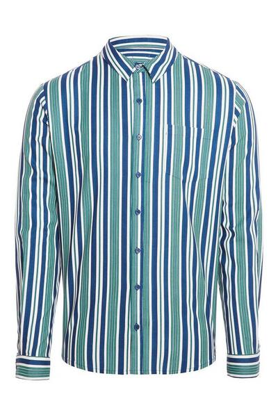 Green White & Blue Stripe Shirt