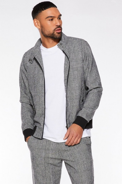 Grey POW Check Jacket