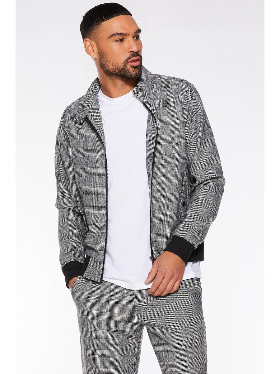 Grey Prince Of Wales Check Jacket