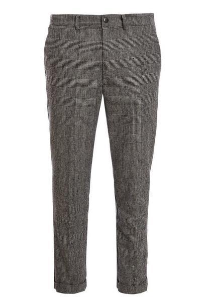 Grey POW Check Trouser