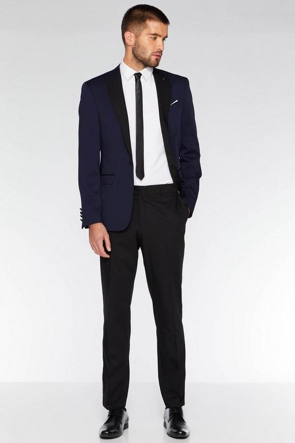 Black Satin Side Stripe Trouser