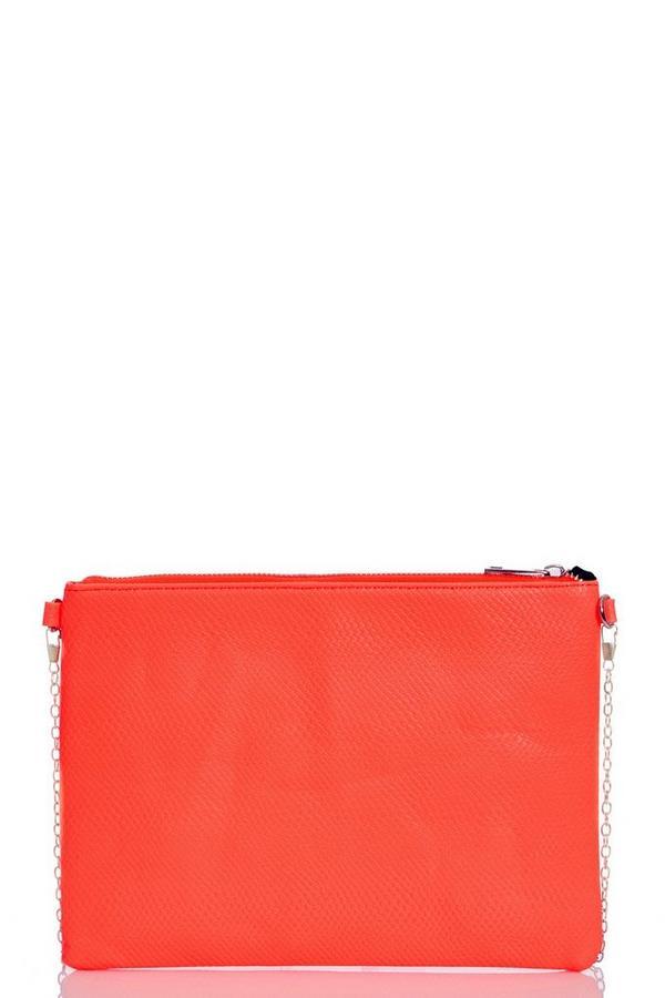 Orange Neon Zip Bag