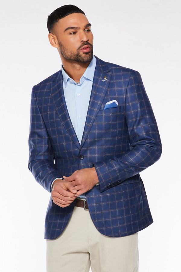 Navy End Check Blazer