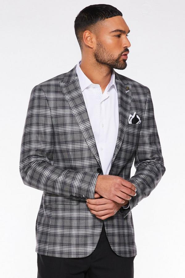 Black / White Check Pattern Blazer