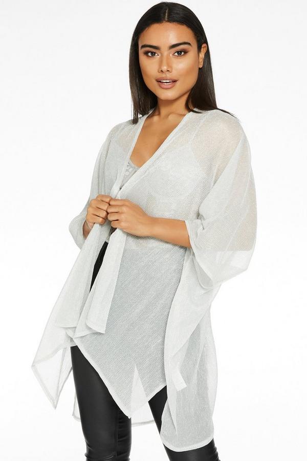 Silver Shimmer Kimono