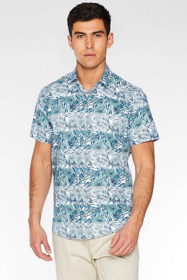 Short Sleeve Flower Print Shirt