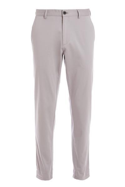 Light Grey Slim Fit Chino Trouser
