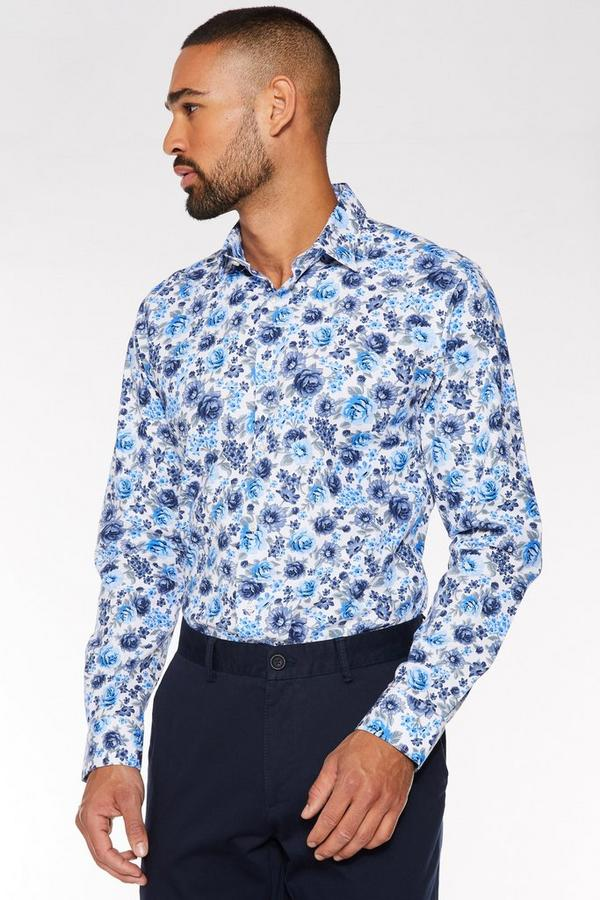 Long Sleeve Flower Print Shirt