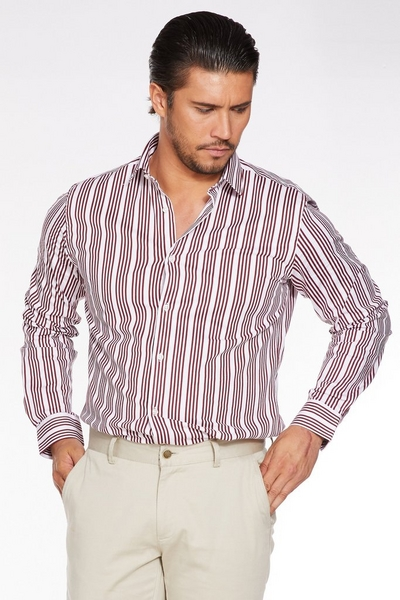 Long Sleeve Striped Pattern Shirt