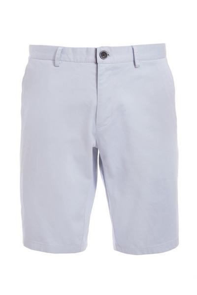 Powder Blue Slim Fit Chino Short