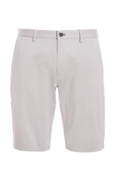 Light Grey Slim Fit Chino Short