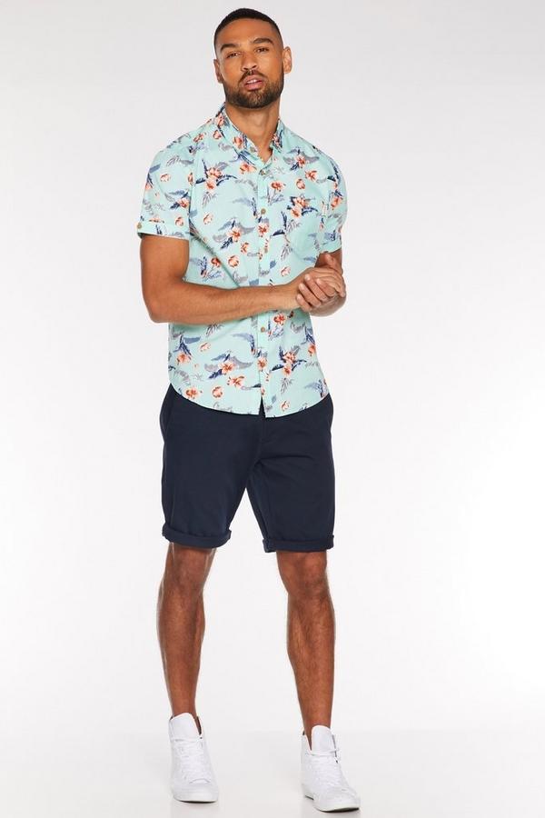 Navy Slim Fit Chino Short