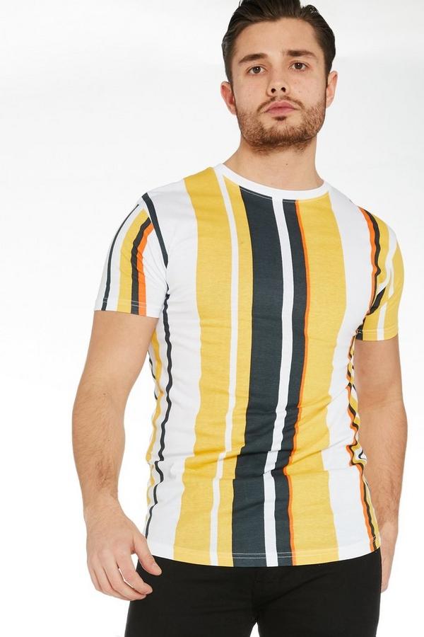 Yellow Vertical Striped T-Shirt