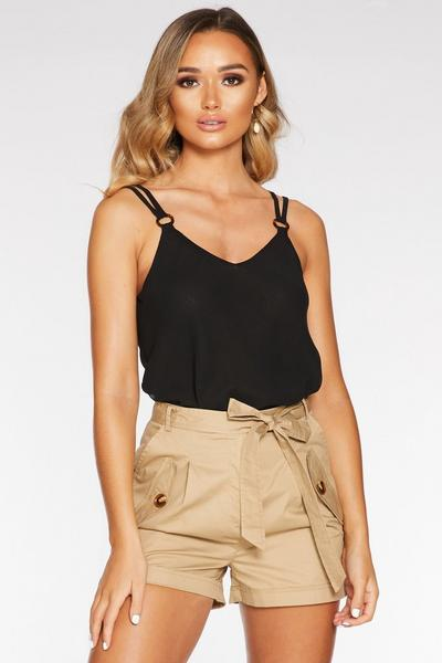 Black Chiffon Swing Top
