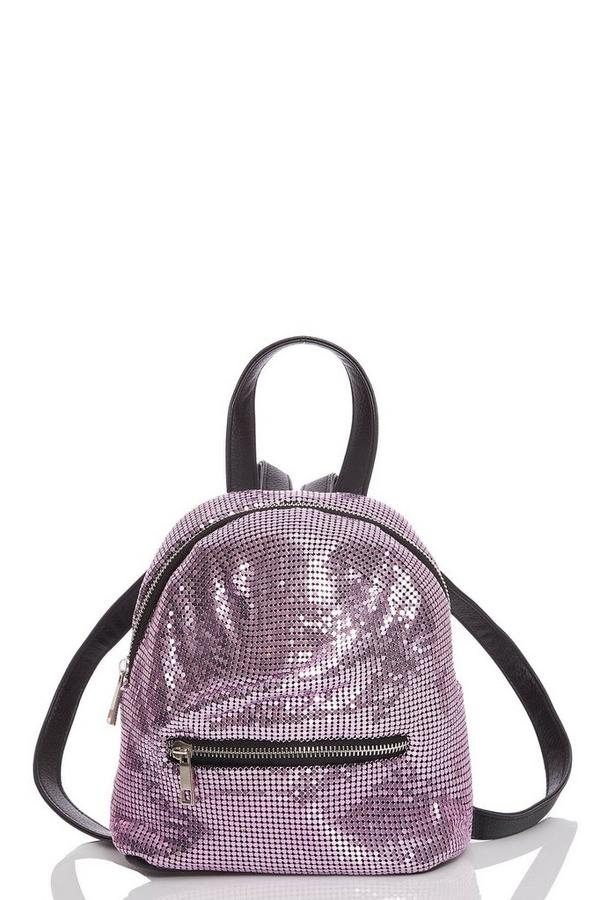 Pink Chainmail Backpack