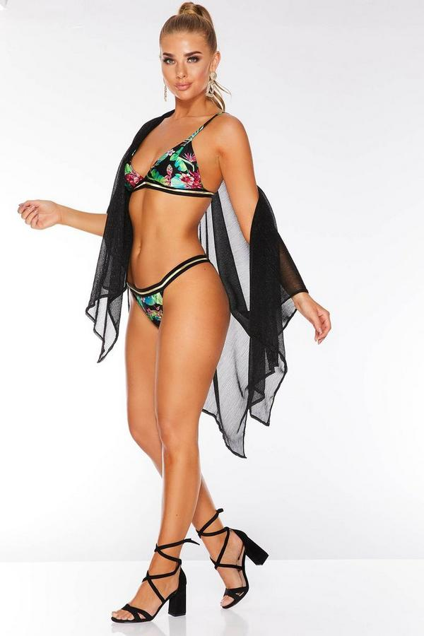 Multicoloured Tropical Print Bikini Bottoms