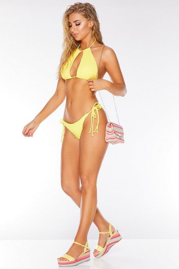 Yellow Tie Side Bikini Bottoms