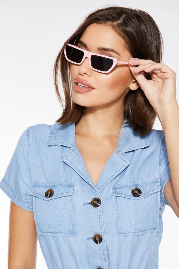 Pink Rectangle Sunglasses