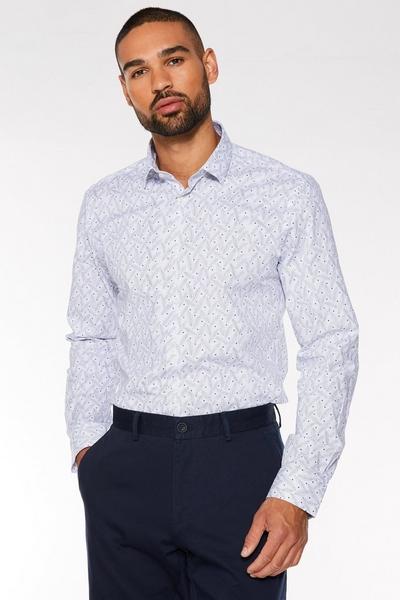 Miniature Paisley Print Long Sleeve Shirt