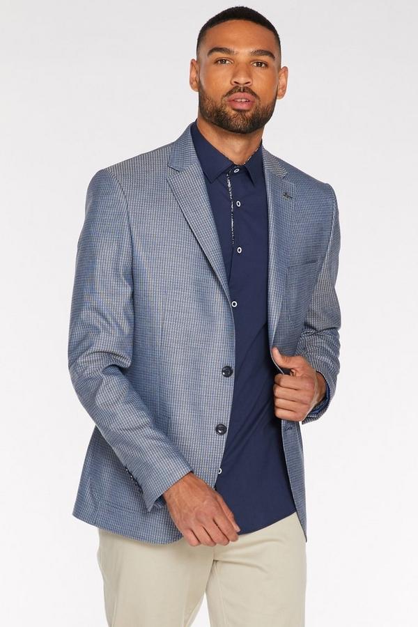 Patch Pocket Blazer in Grey and Navy