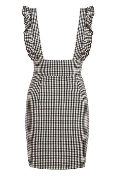 Black And White Gingham Pinafore