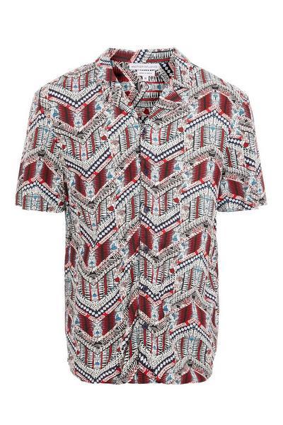 Aztec Revere Collar Printed Shirt