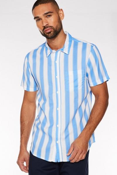 Blue/White Deckchair Striped Shirt