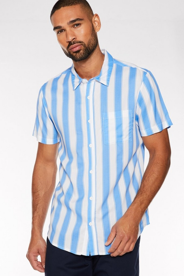 Blue/White Deckchair Striped Shirt