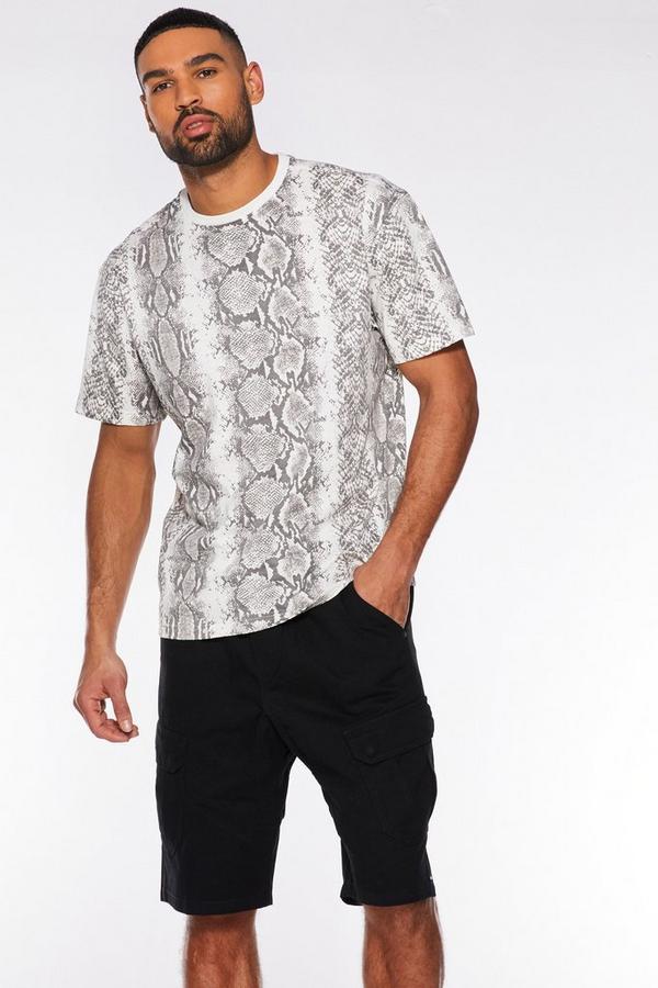 Snake Skin Print Box T-Shirt