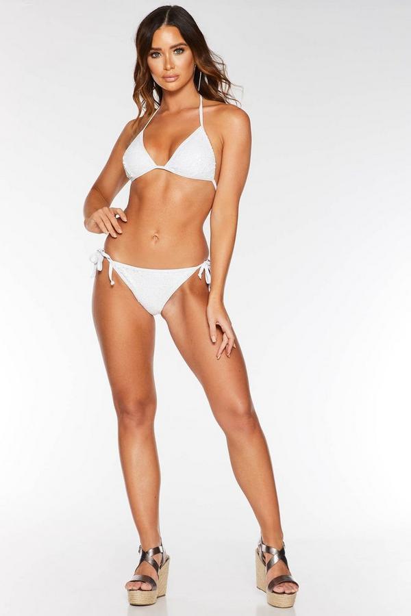 White Sequin Bikini Bottoms