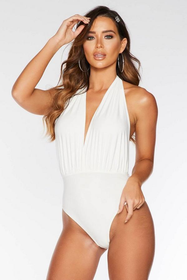 White Halterneck Swimsuit