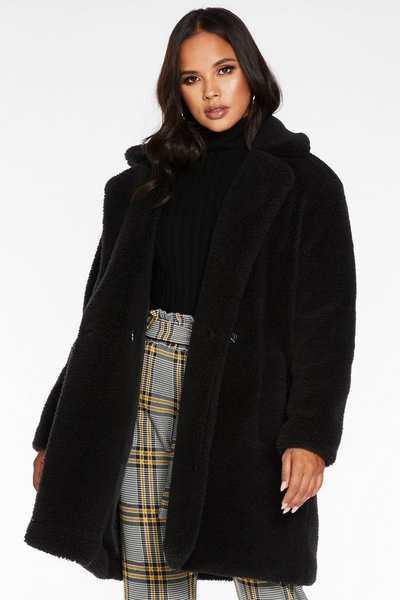 Black Borg Teddy Bear Coat