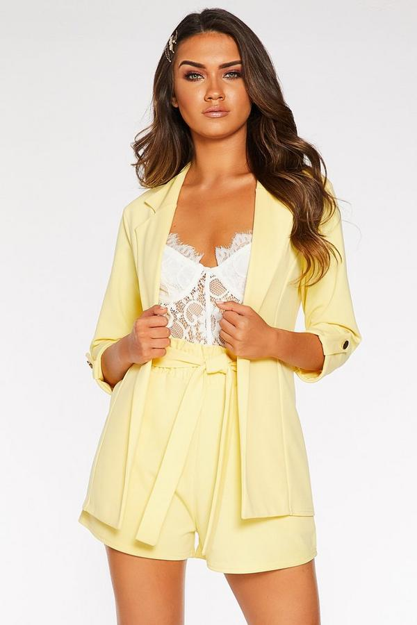 Yellow 3/4 Sleeve Blazer