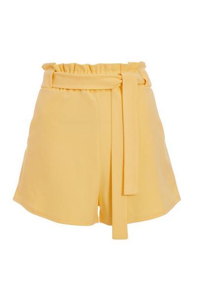 Yellow Paperbag Shorts