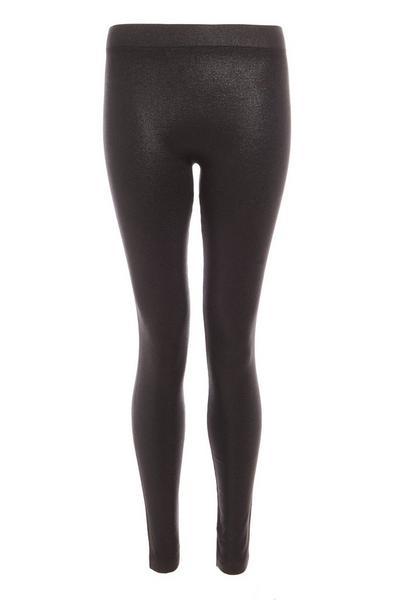 Black Fleece Wet Look Leggings