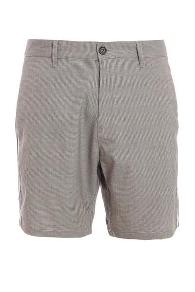 Dogtooth Check Shorts with Taping