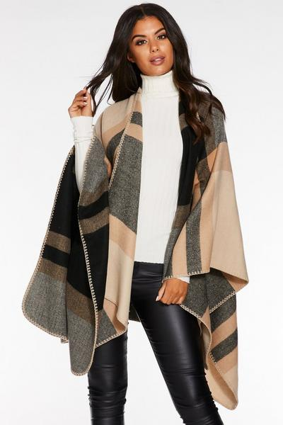 Camel Check Cape