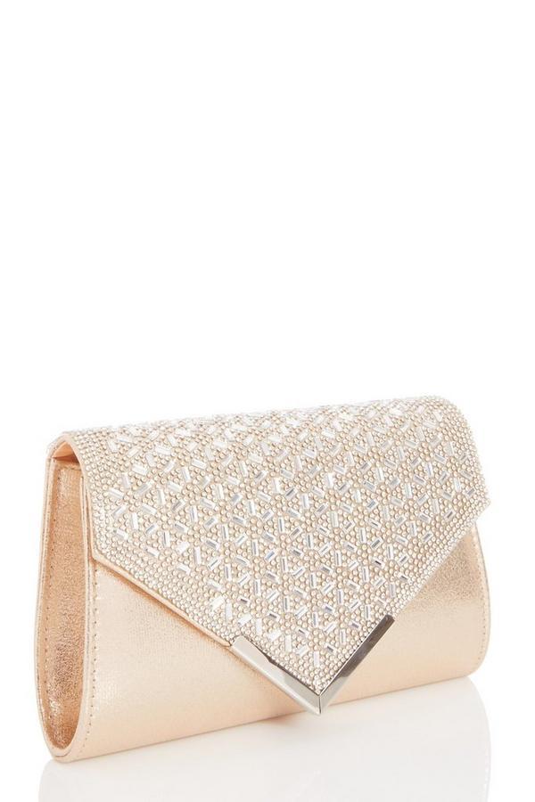 Gold Jewel Cluster Envelope Bag