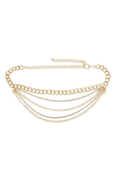 Gold Layered Chain Belt