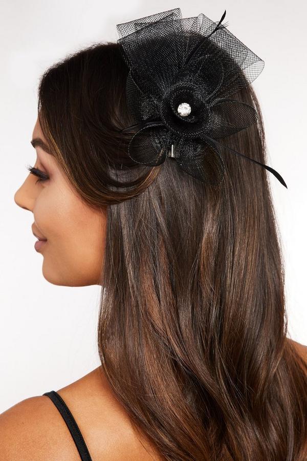Black Jewel Flower Fascinator