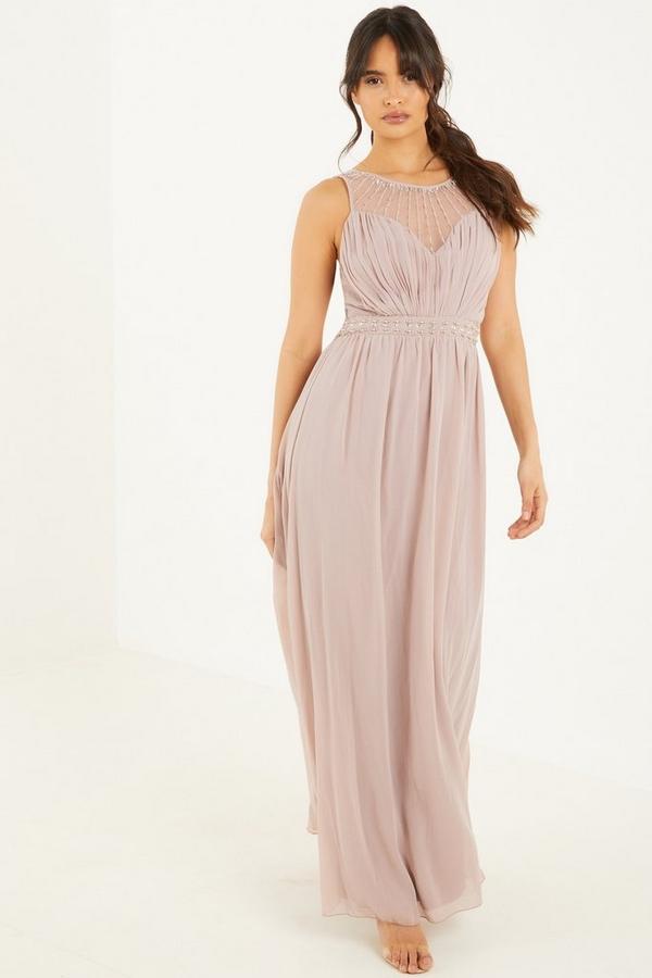 Mocha Embellished Maxi Dress