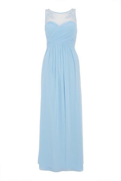 Blue Sweetheart Maxi Dress