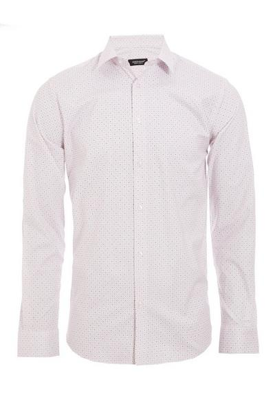 Long Sleeved Geometric Spotted Shirt