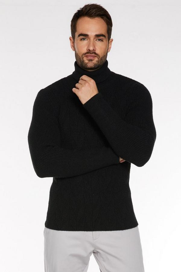 Chunky Roll Neck in Black