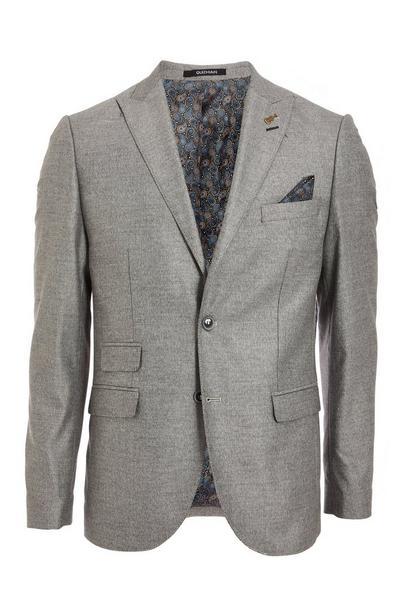 Textured Blazer in Grey