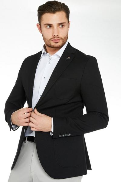 Blazer with Patch Pocket in Black