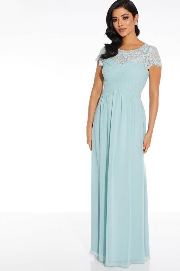 Sage Lace Sweetheart Maxi Dress
