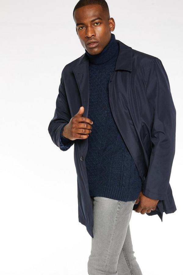 Single Breasted Trench In Navy
